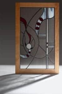Glas in lood rechthoekig